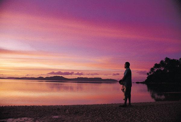 フィジー島夕日